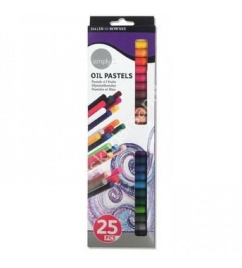 Daler Rowney Simply Oil Pastel 25 Renk