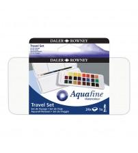 Daler Rowney Aquafine Sulu Boya 24 Renk Travel set