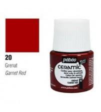 Pebeo Seramik Boyası 20 Garnet Red