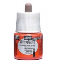 Pebeo Marbling Ebru Boyası 45 ml 02 Vermilion