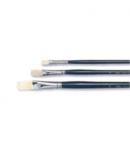 Pebeo 140F Serisi Yüksek Kalite Sert Doğal Kıl Akrilik / Yağlı Boya  Fırçası No:4