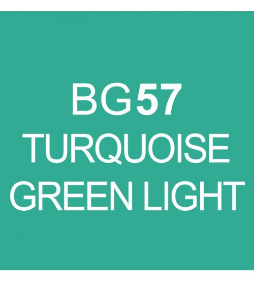 Touch Twin Marker BG57 Turquoise Green Light