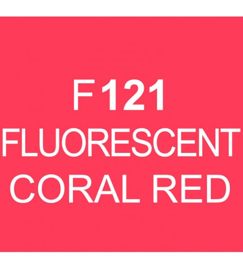 Touch Twin Marker F121 Fluorescent Coral Red