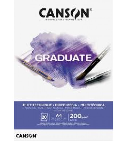 Canson Graduate 200 gr A4 20yp Mixed Media