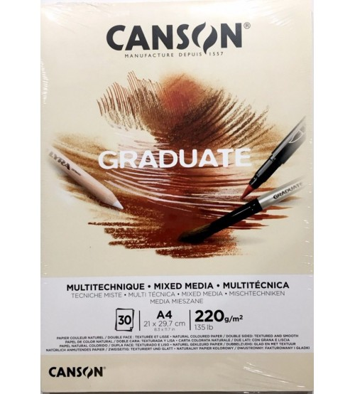 Canson Graduate 220 gr A4 30yp Mixed Media