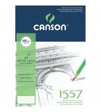 Canson 1557 120gr A3 40 yaprak Üstten Spiralli