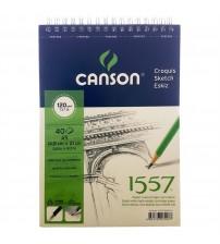 Canson 1557 120gr A5 40 yaprak Üstten Spiralli