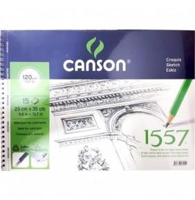 Canson 1557 120gr 25 x 35 15 yaprak Yandan Spiralli