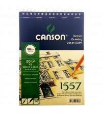 Canson 1557 180gr A5 20 yaprak Üstten Spiralli