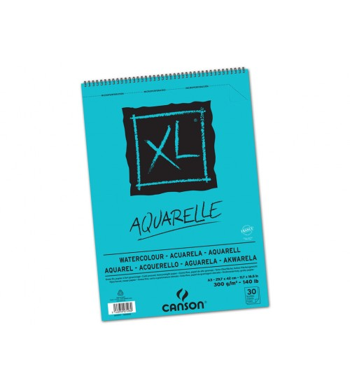 Canson XL Aquarell 300 gr  30 yaprak Suluboya Bloğu A4