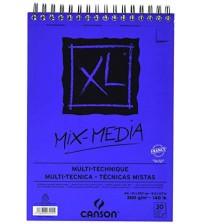 Canson Mix MediaXL 300 gr A4 30 yaprak Üstten Spiralli