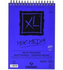 Canson Mix MediaXL 300 gr A5 15 yaprak Üstten Spiralli