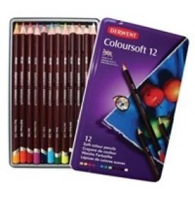 Derwent Coloursoft 12 li Teneke Kutu
