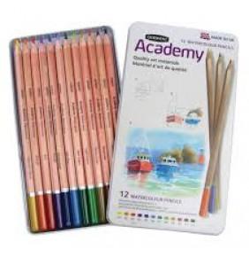 Derwent Academy Watercolor Pencil 12 li Teneke Kutu