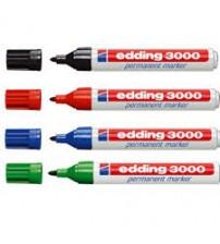 Edding 3000 Permanent Marker Kırmızı