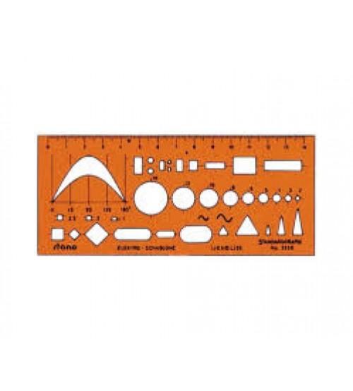 Standardgraph 3338 Elektronik Şekil Şablonu