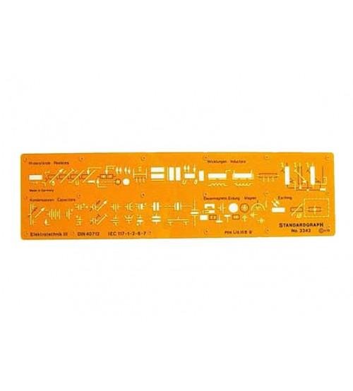 Standardgraph 3343 Elektroteknik Şablonu III