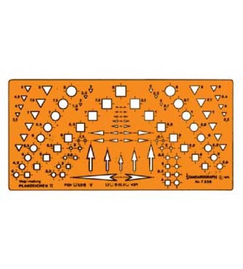 Standardgraph 7358 Teknik Çizim ve Ok Şablonu