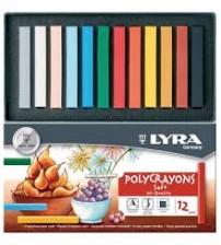 Lyra Polycrayons Soft Toz Pastel 12 renk
