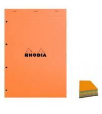 Rhodia Blok No: 12 Turuncu Kapak 4 Renk Kağıt Kareli