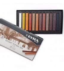 Lyra Polycrayons Soft Toz Pastel 12 renk Kahverengi Tonlar