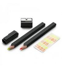 Moleskine EW2PSFN12 Moleskine Kurşun Kalem, Fosforlu Kalem ve Kalemtraş