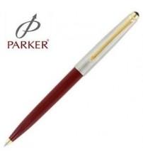 Parker 45 Yarım Krom Altın Tükenmez Kalem Kırmızı