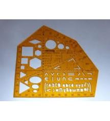 Rotring Art831615 Elektrik Matematik Şablonu