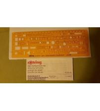 Rotring Art852745 Elektroteknik II Şablon