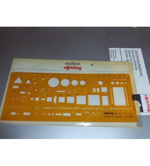 Rotring Art852772 Elektro Combi Şablon