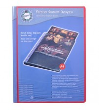 Serve SV 6730 Yaratıcı Sunum Dosyası 30 Yaprak Kırmızı