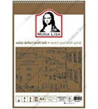 Mona Lisa Kraft Eskiz Defteri A4 120gr 50yp Üstten Spiralli
