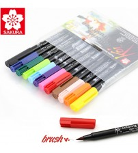 Sakura Koi Brush Pen 12 renk
